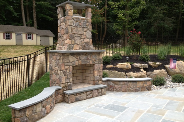 Blue Mist Hardstone Construction Company recent walkway and patio work